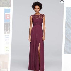 David's Bridal wine dress size 14